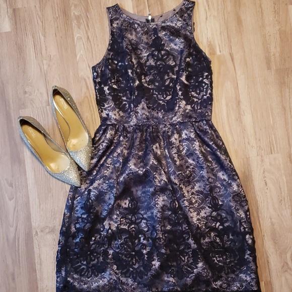 Dress Barn Dresses & Skirts - Beautiful Navy Lace Dress